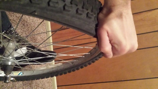 Remove Entire Side of Tire From Rim With Hands