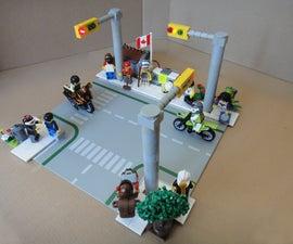 LEGO T-Intersection LED Traffic Light