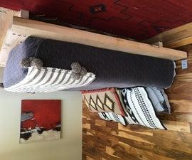 Massive Timbered Platform Bed