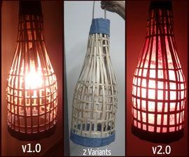 Handmade Bamboo Lantern. Using old bamboo blinds.