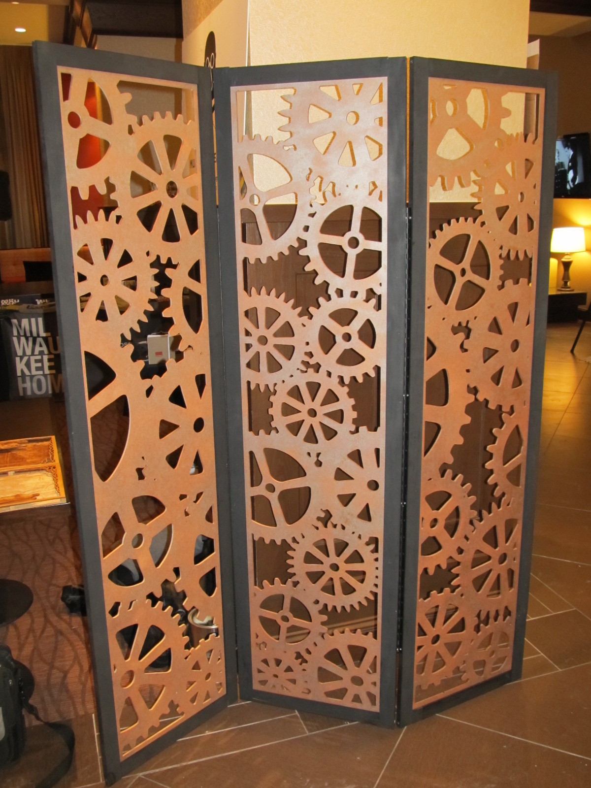 Picture Of Steampunk Tri Fold Room Divider