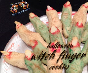 Easy Halloween Witch Finger Cookies
