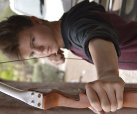 Handcrafted Wooden Recurve Bow Made by a 14 Year Old