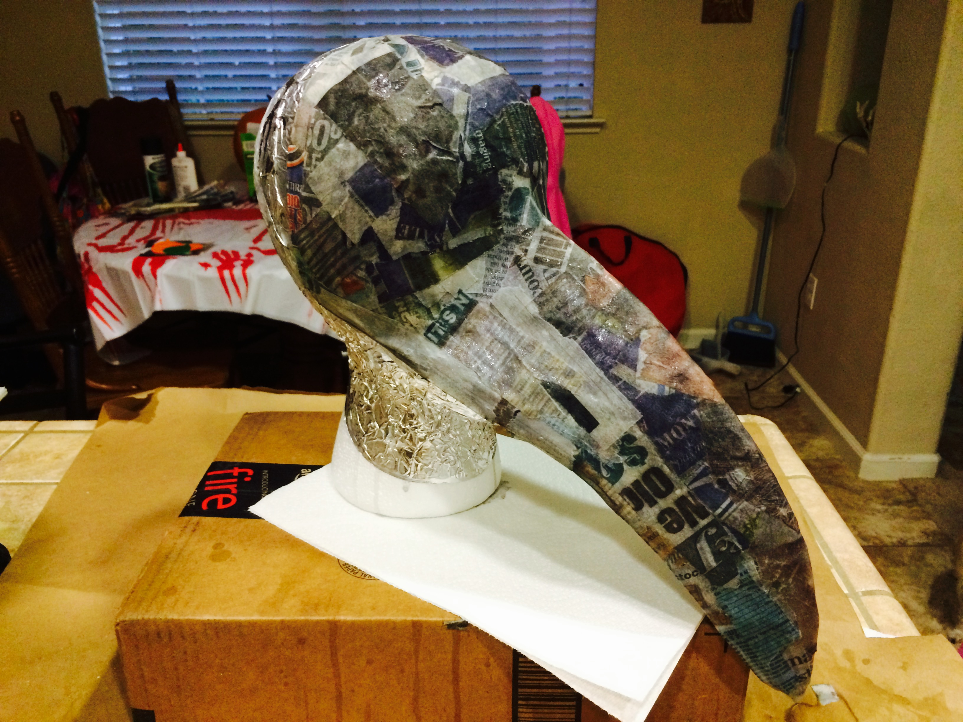 Picture of Paper Mache Under Structure