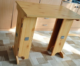 Foldable table, recycling of old table