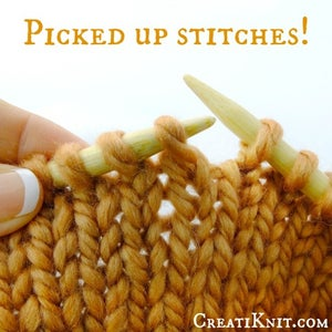 Now Your Stitches Have All Been Picked Up and Corrected!