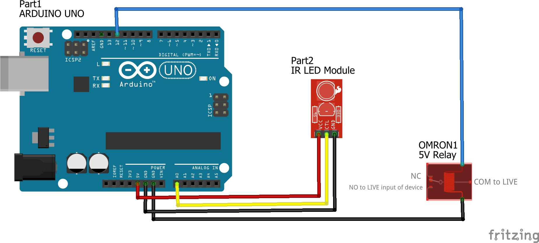 Picture of Add the Device With the Relay: