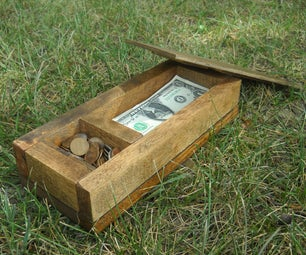 Hardwood Cash Box