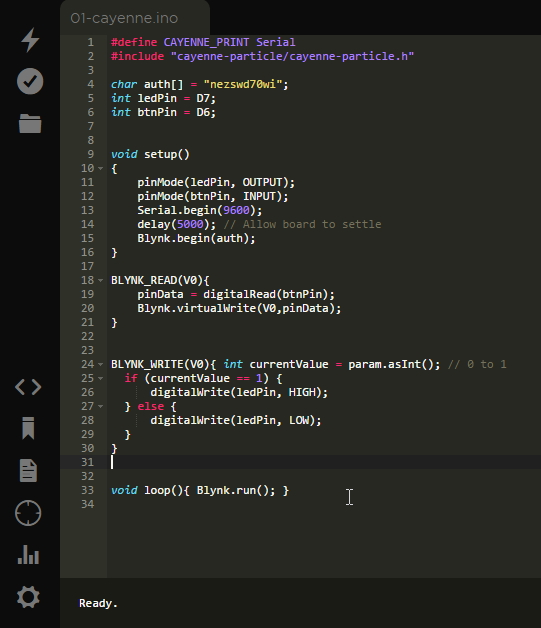 Picture of Flash the Code on Cloud Editor
