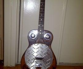 Converting a Cheap Acoustic Guitar to a Cheap Resonator Guitar