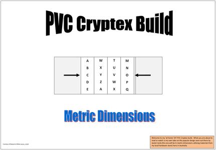 DIY PVC Cryptex (Metric)