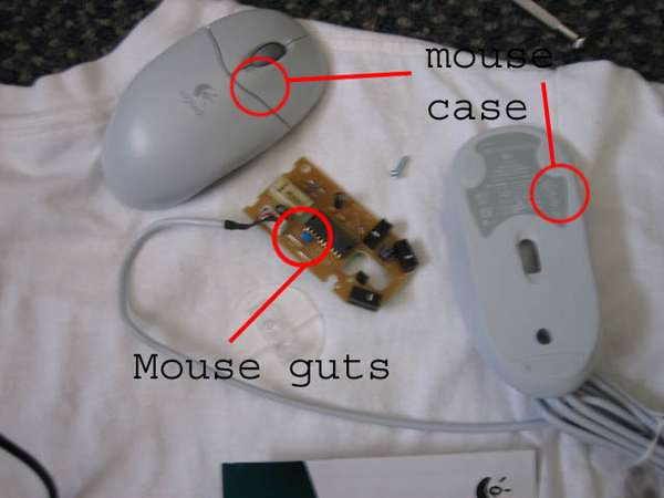Picture of 1. Take Apart the Mouse