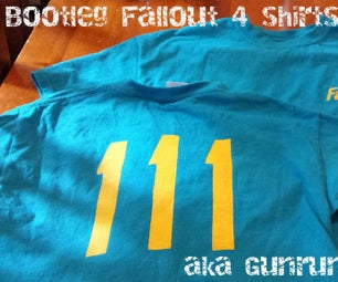 Bootleg Fallout 4 T-Shirts With a Vinyl Cutter. Aka Gun Runner Shirts