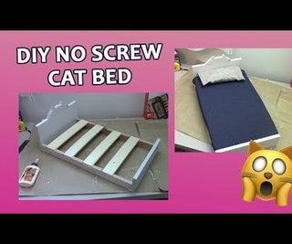 Cat Bed DIY No Screw | Miniature Dolls Bed / Pet Bed