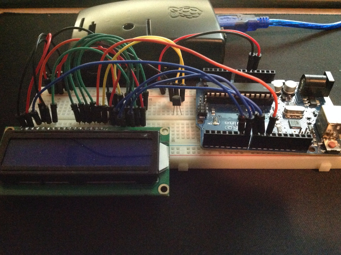Picture of Raspberry Pi + Arduino Serial With LCD Screen