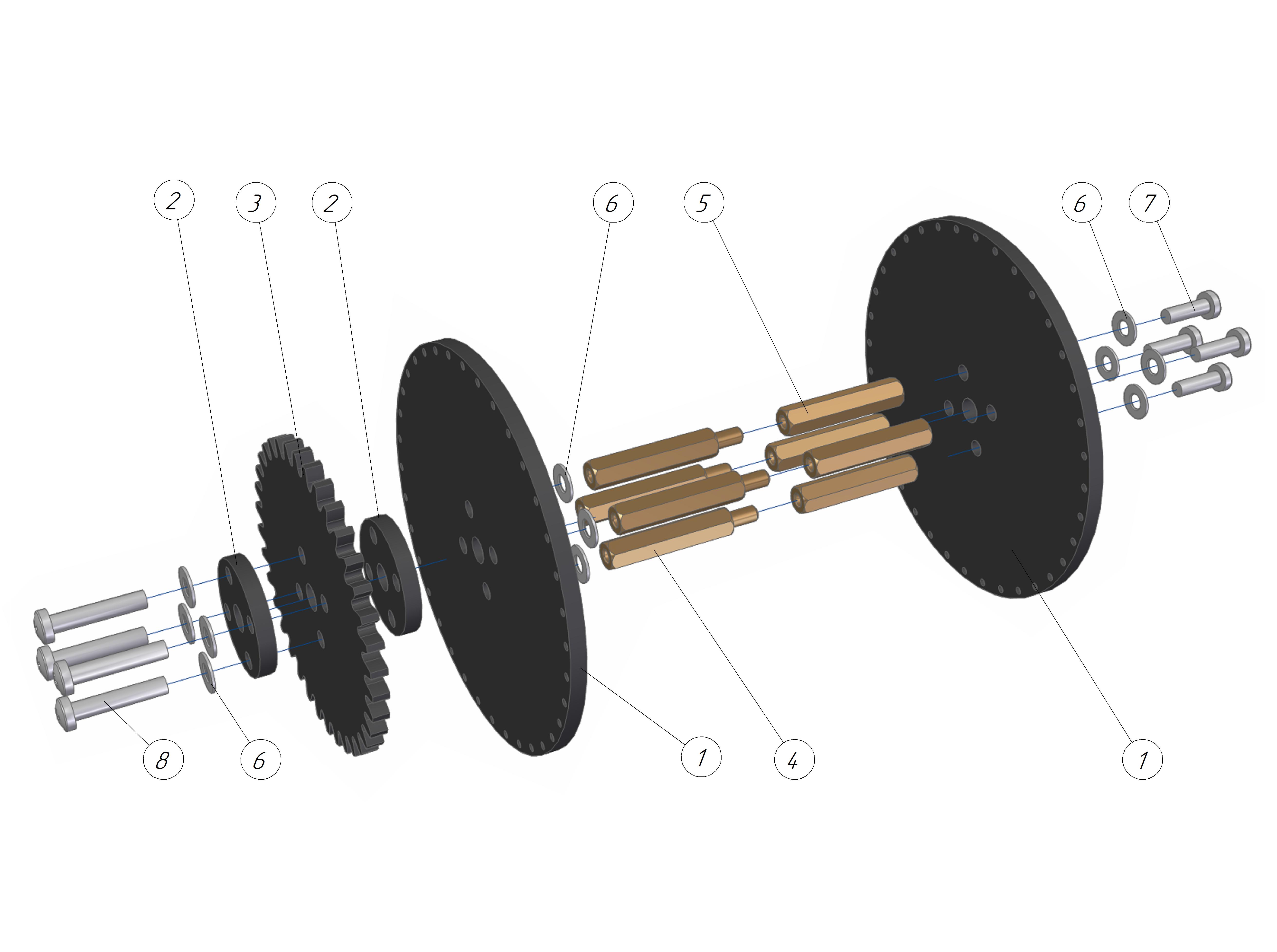 Picture of Mechanics. Assembling the Flip-holder.