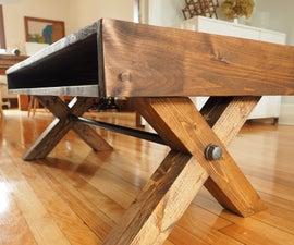 X Leg Coffee Table