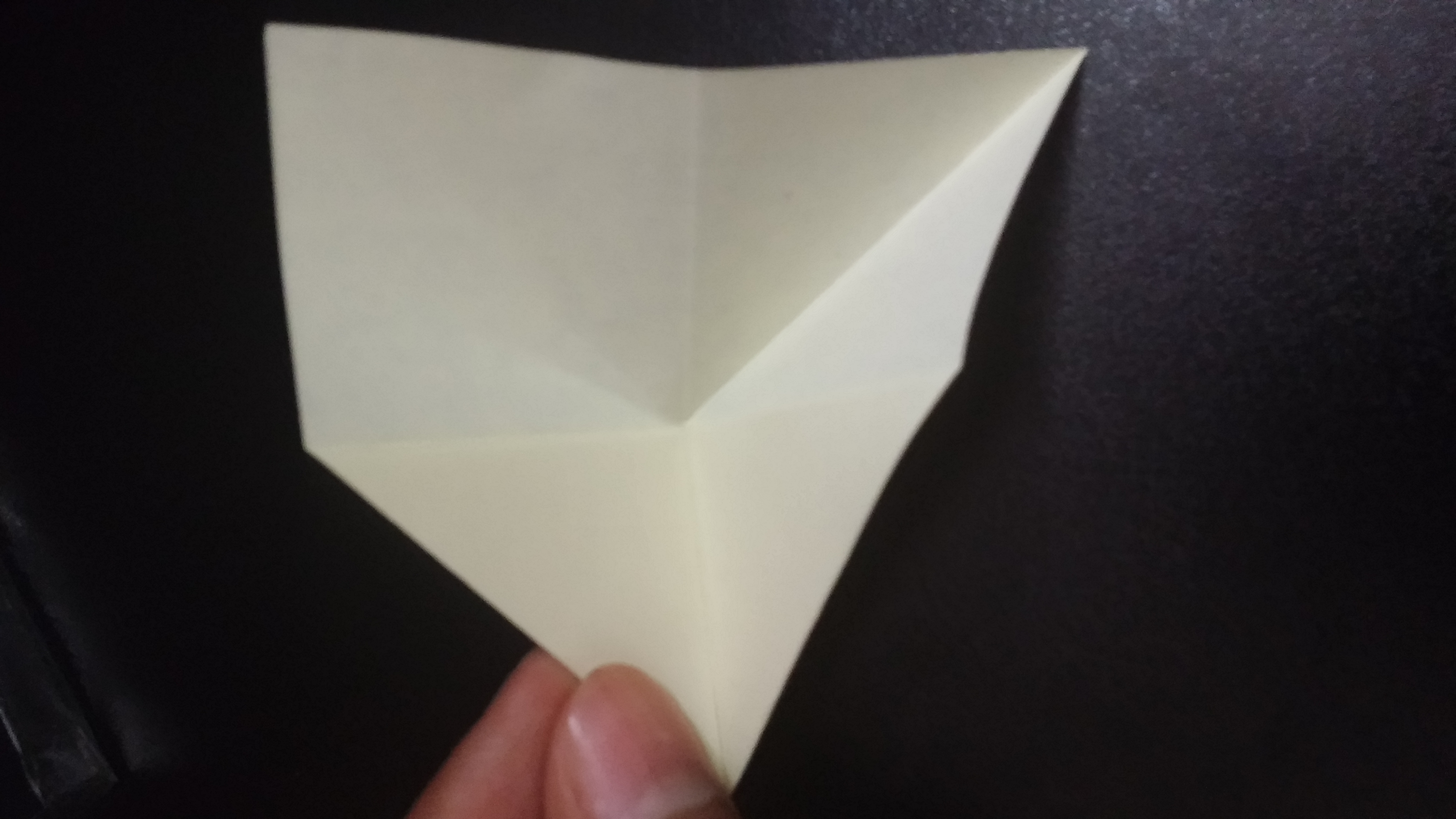 Picture of Fold in Half, Push the Back Towards the Center and Crease