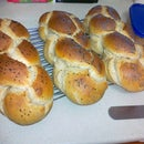 Almost No-Knead Egg Challa (including braiding instructions)