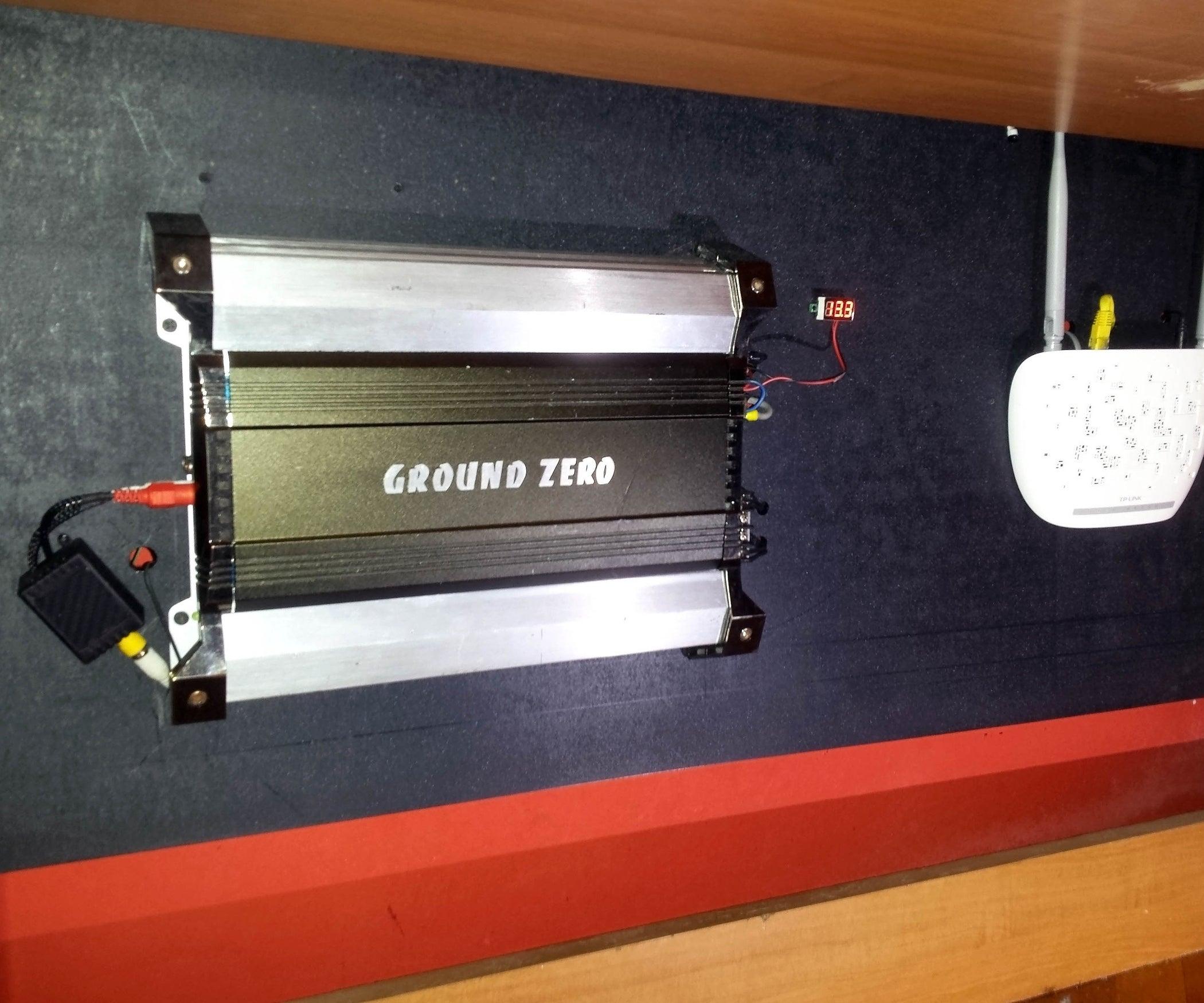 hook up car amplifier in house