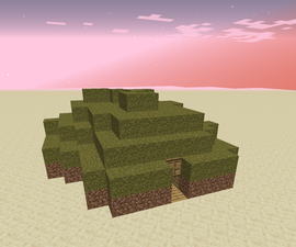 How to Build a 1-block High Base in Minecraft!