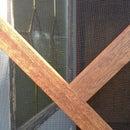 Screen door from reclaimed door jambs