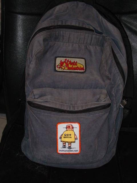 Picture of My backpack (with Instructables Robot!)