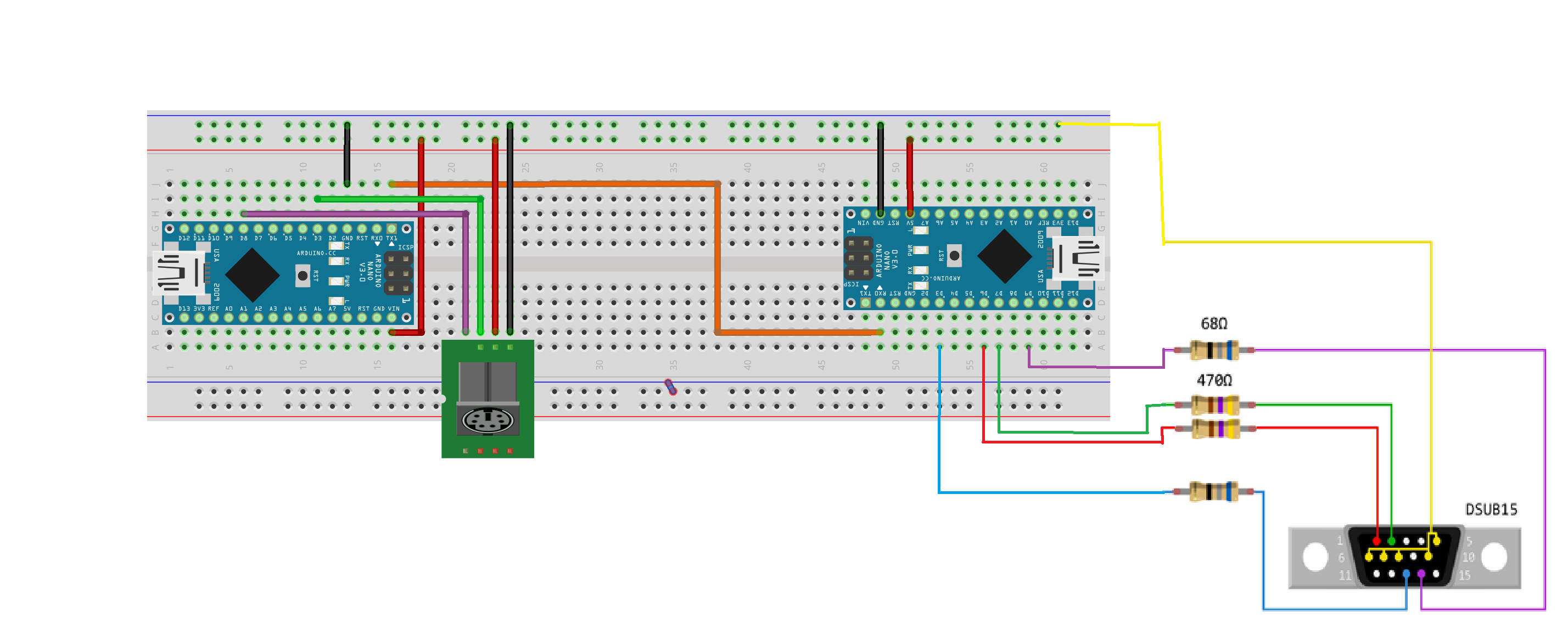 Picture of Upload the VGAx Library and Code on the Second Arduino and Put Everything Together