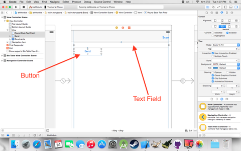Main View Controller Layout --