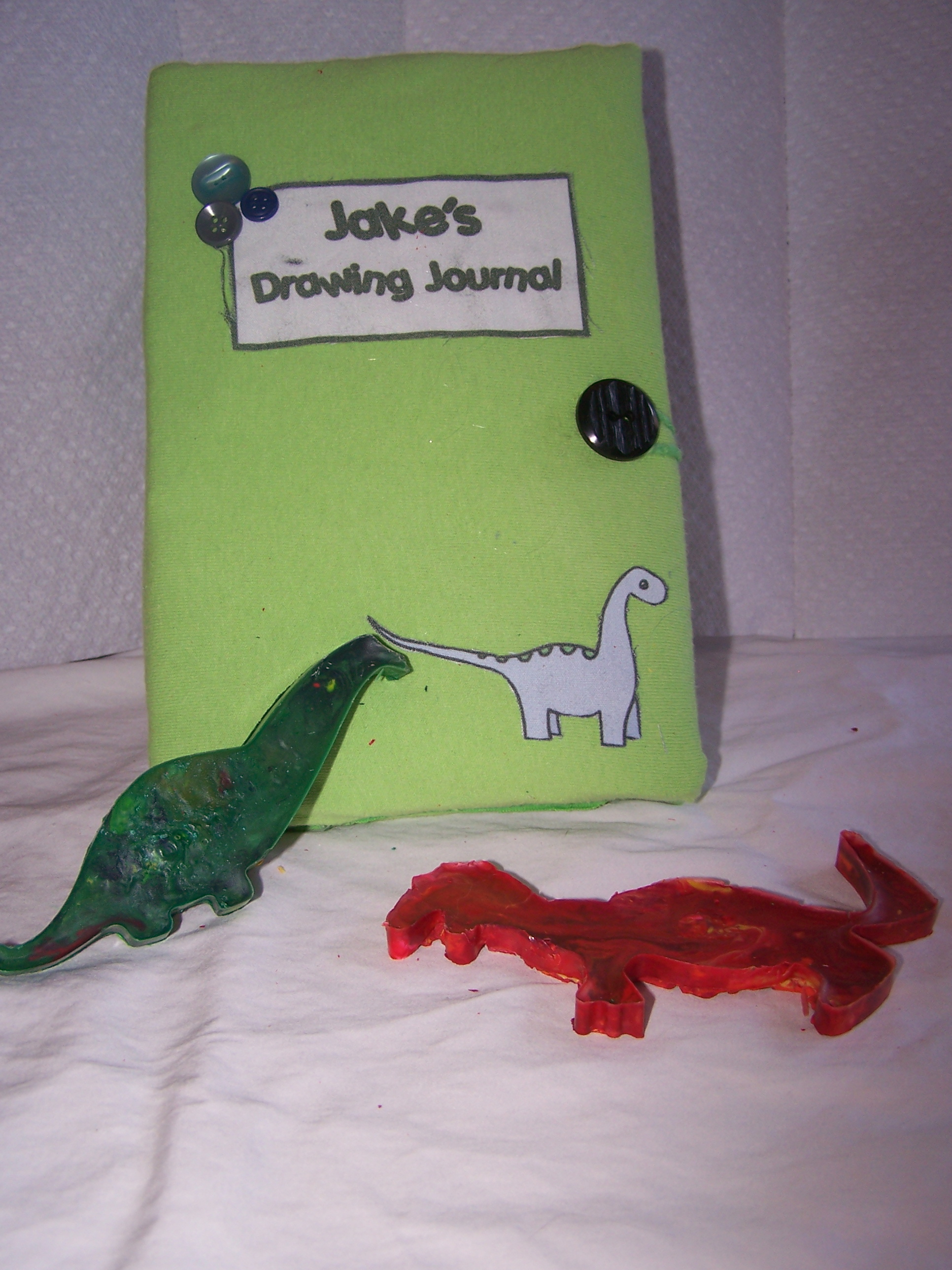 Picture of Personalized Journal and Crayons