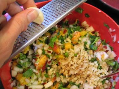 Combine Salsa Ingredients