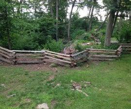Colonial Style Split Rail Fence