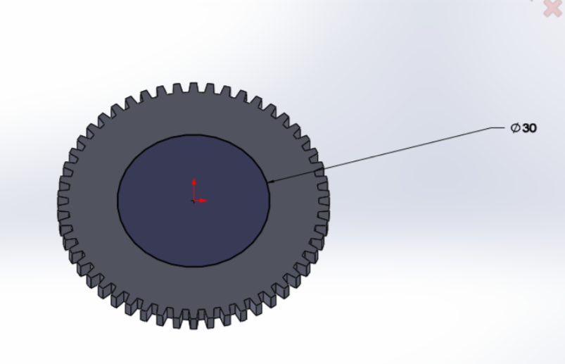 """Picture of  Extrude the Gear Sketch Upward by 4mm Using """"Extrude Base"""""""