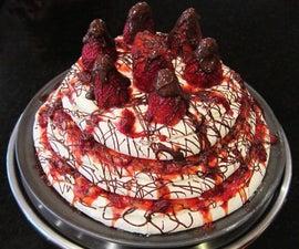 3 Tier Strawberries and Cream Pavlova