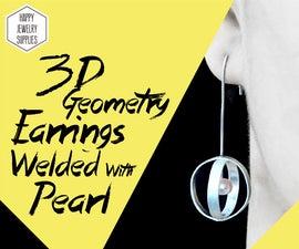 DIY Tutorial - How to Make 3D Geometry Globular 925 Sterling Silver Earrings With Pearl