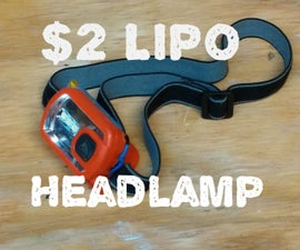 Rechargeable Headlamp for $2