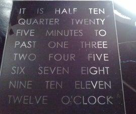 Rainbow Word Clock