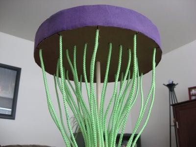 Indoor Disc Golf Using Plastic Bottles and Caps