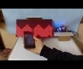LED Matrix Wave Move With Hand