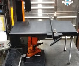 Modified Horizontal Bandsaw for Vertical Usage