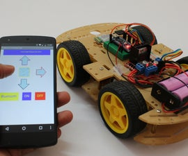 Smartphone Controlled Arduino Rover