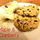Maple and Cranberry Oat Cookies