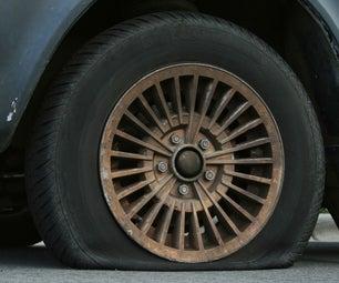 Slashed Car Tires