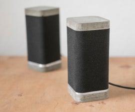 Logitech X-230 concrete speaker mod