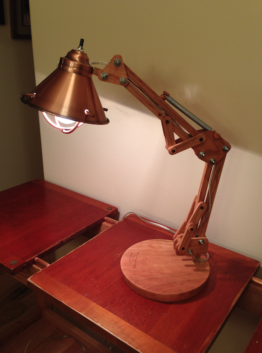 Picture of Wooden Architect Lamp