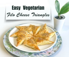 Easy Filo Cheese Triangles With Parsley