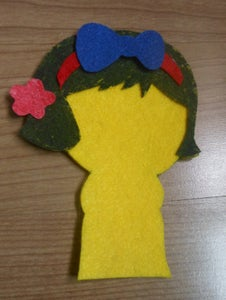 Glue the Pink Flower on the Right Ear.