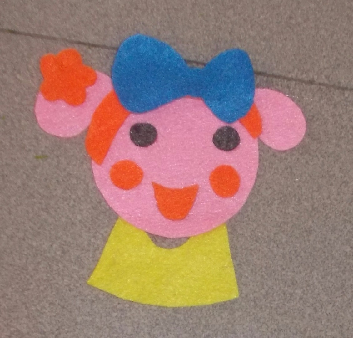 Picture of Cut the Cheeks, Mouth and Dress. Glue Them Like the Picture.