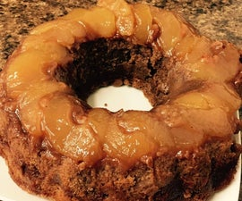 Eggless Flax Seed Apple Cinnamon Cake