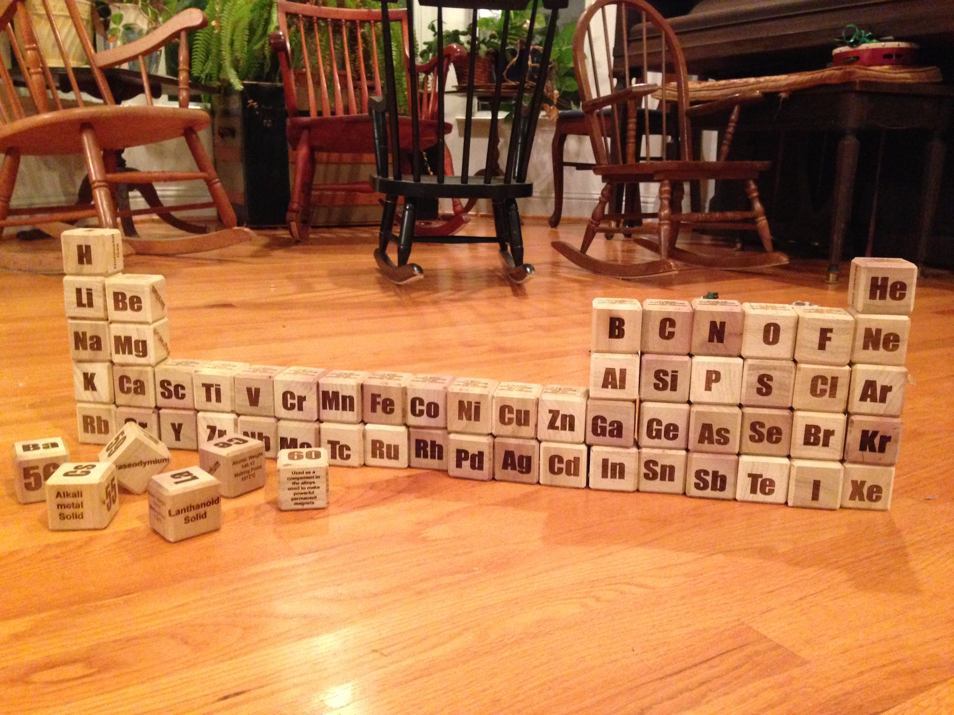 Periodic Table of the Elements Blocks : 10 Steps (with Pictures
